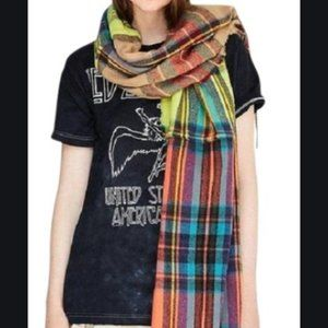 Urban Outfitters Mixed Plaid Scarf